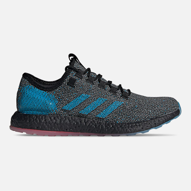 Right view of Men's adidas PureBOOST LTD Running Shoes in Core Black/Footwear White/Active Red