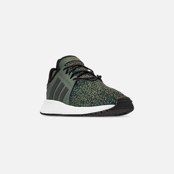 Three Quarter view of Men's adidas Originals X_PLR Casual Shoes in Base Green/Core Black/Footwear White