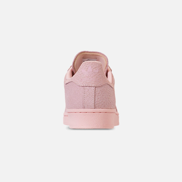 Back view of Women's adidas Originals Superstar Premium Casual Shoes in Icey Pink/Icey Pink/Silver Metallic