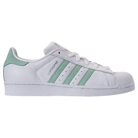 Adidas Originals Leathers WOMEN'S ORIGINALS SUPERSTAR LEATHER CASUAL SHOES, WHITE