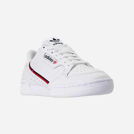 c257af678 Three Quarter view of Men's adidas Originals Continental 80 Casual Shoes in  Footwear White/Scarlet