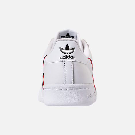 Back view of Men's adidas Originals Continental 80 Casual Shoes in Footwear White/Scarlet/Navy