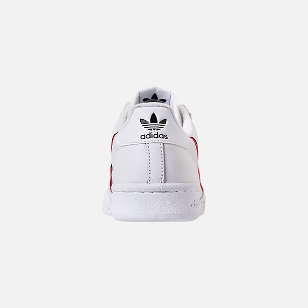 buy popular 53690 f9aa0 Back view of Men s adidas Originals Continental 80 Casual Shoes in Footwear  White Scarlet