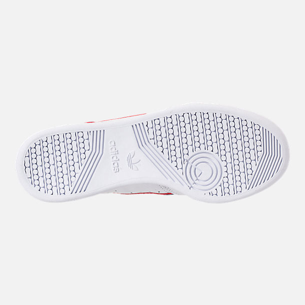 Bottom view of Men's adidas Originals Continental 80 Casual Shoes in Footwear White/Scarlet/Navy