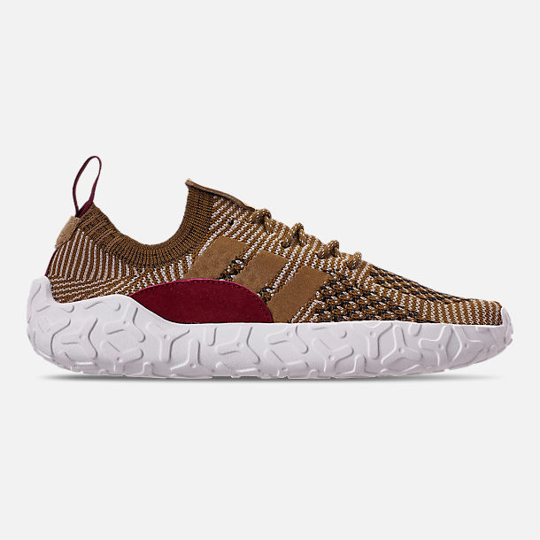 Right view of Men's adidas Originals F/22 Primeknit Casual Shoes in Raw Gold/Raw Desert/Collegiate Burgundy