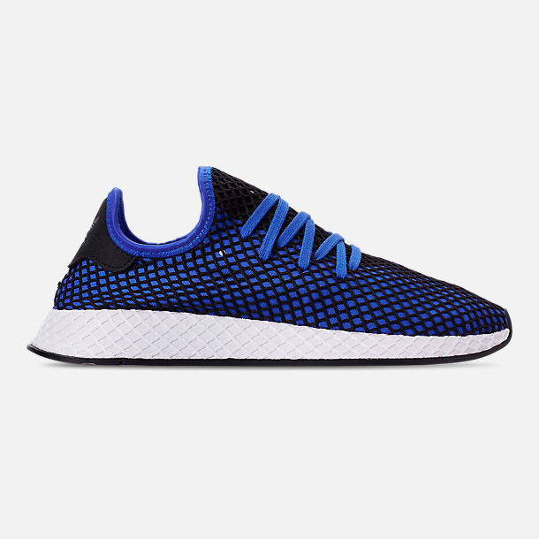3b30c395a7c4 Right view of Men s adidas Originals Deerupt Runner Casual Shoes in Hi-Red  Blue