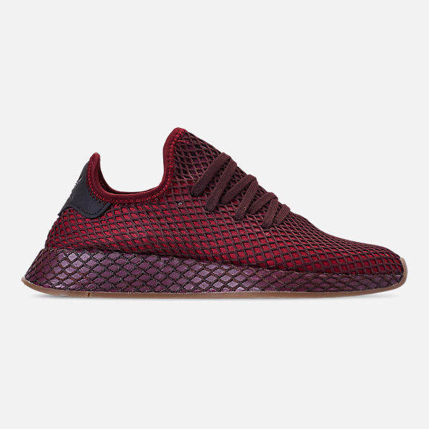 Right view of Men's adidas Originals Deerupt Runner Casual Shoes in Collegiate Burgundy