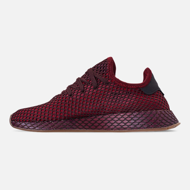 Left view of Men's adidas Originals Deerupt Runner Casual Shoes in Collegiate Burgundy