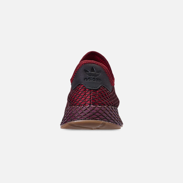 Back view of Men's adidas Originals Deerupt Runner Casual Shoes in Collegiate Burgundy