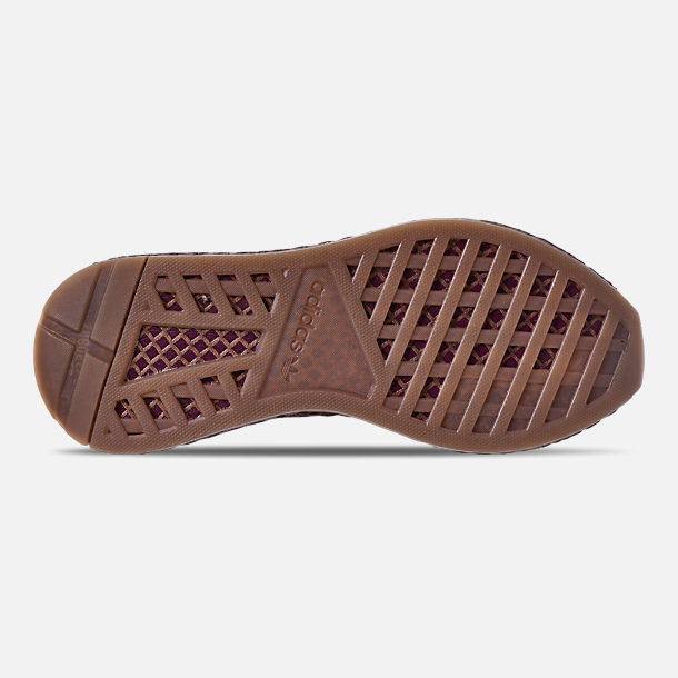 Bottom view of Men's adidas Originals Deerupt Runner Casual Shoes in Collegiate Burgundy