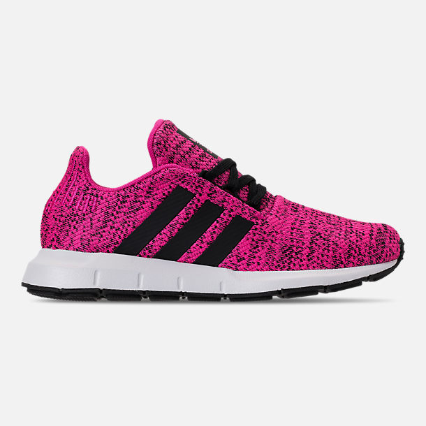 81839898db8617 Right view of Girls  Big Kids  adidas Swift Run Casual Shoes in Shock Pink