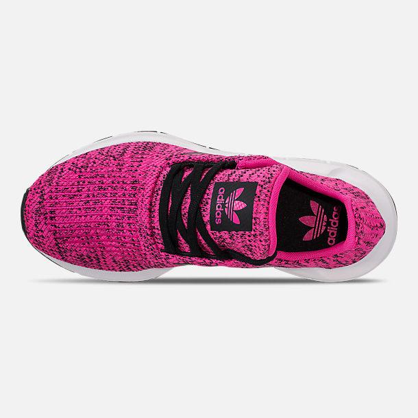2de318110f75d Top view of Girls  Big Kids  adidas Swift Run Casual Shoes in Shock Pink