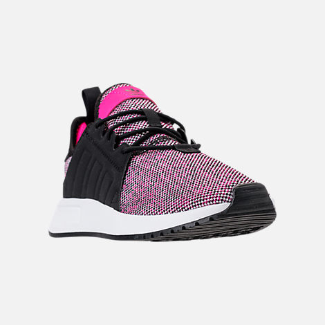 Three Quarter view of Girls' Little Kids' adidas Originals X_PLR Casual Shoes in Pink/Black/White