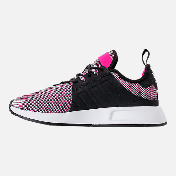 Left view of Girls' Little Kids' adidas Originals X_PLR Casual Shoes in Pink/Black/White