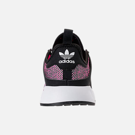 Back view of Girls' Little Kids' adidas Originals X_PLR Casual Shoes in Pink/Black/White