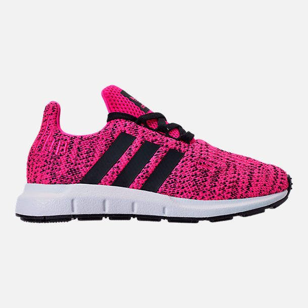 Right view of Girls' Little Kids' adidas Swift Run Casual Shoes in Shock Pink/Core Black/Core Black