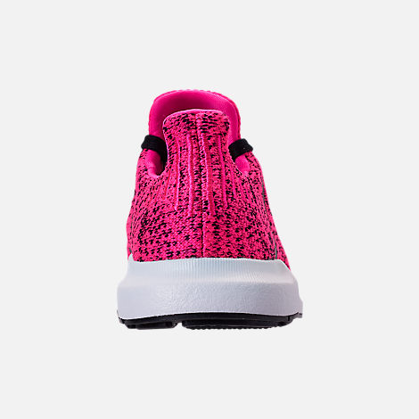 Back view of Girls' Little Kids' adidas Swift Run Casual Shoes in Shock Pink/Core Black/Core Black
