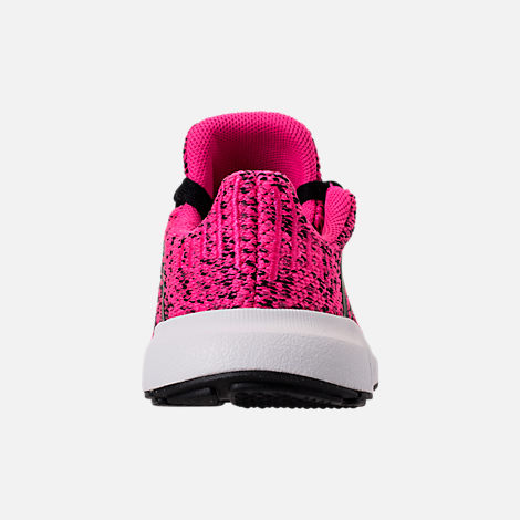 Back view of Girls' Toddler adidas Swift Run Casual Shoes in Shock Pink/Core Black/Core Black