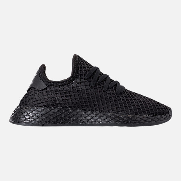 best loved d3243 a5e74 Right view of Big Kids adidas Originals Deerupt Runner Casual Shoes in  Core Black