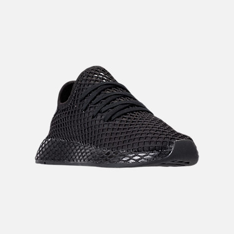 hot sale online cfb02 b3a53 Three Quarter view of Big Kids adidas Originals Deerupt Runner Casual Shoes  in Core Black