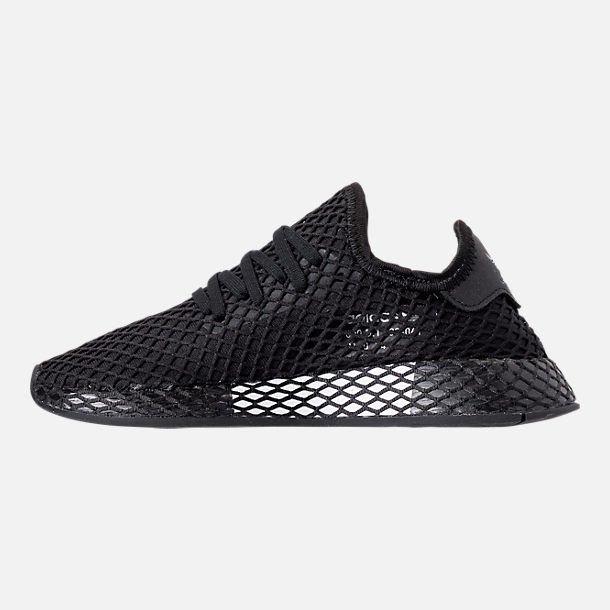 huge discount acfd9 776e8 Left view of Big Kids adidas Originals Deerupt Runner Casual Shoes in Core  Black