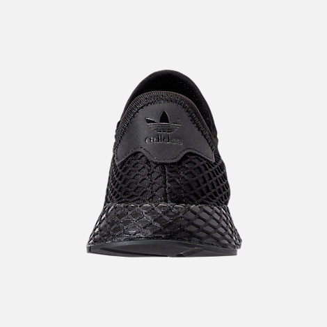low cost 9079b 563bf Back view of Big Kids adidas Originals Deerupt Runner Casual Shoes in Core  Black