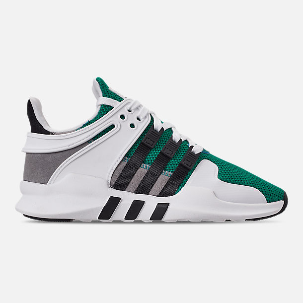Right view of Boys' Big Kids' adidas EQT Support ADV Casual Shoes in Sub Green/Core Black/Feather White