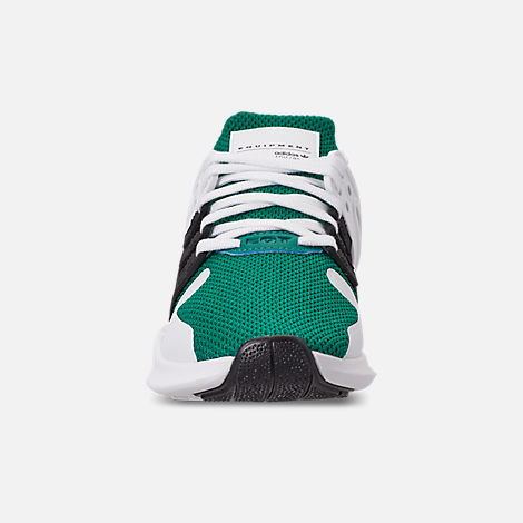 Front view of Boys' Big Kids' adidas EQT Support ADV Casual Shoes in Sub Green/Core Black/Feather White
