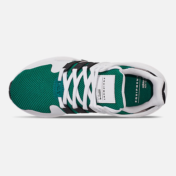 Top view of Boys' Big Kids' adidas EQT Support ADV Casual Shoes in Sub Green/Core Black/Feather White