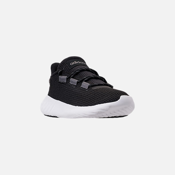Three Quarter view of Boys' Big Kids' adidas Tubular Dusk Running Shoes