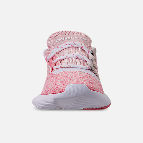 Front view of Girls' Big Kids' adidas Tubular Dusk Running Shoes in Icey Pink/Super Pop/Chalk White