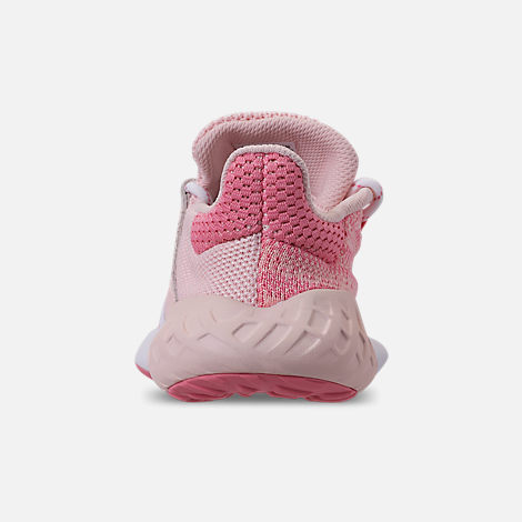 Back view of Girls' Big Kids' adidas Tubular Dusk Running Shoes in Icey Pink/Super Pop/Chalk White
