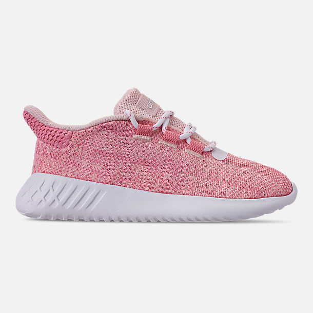 Right view of Girls' Little Kids' adidas Tubular Dusk Running Shoes in Icey Pink/Super Pop/Chalk White