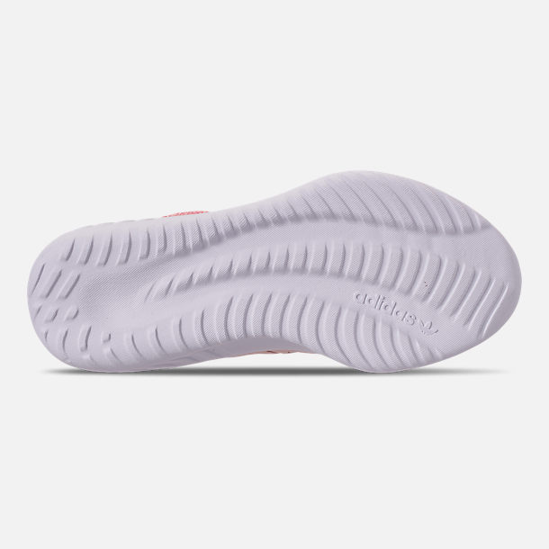 Bottom view of Girls' Little Kids' adidas Tubular Dusk Running Shoes in Icey Pink/Super Pop/Chalk White