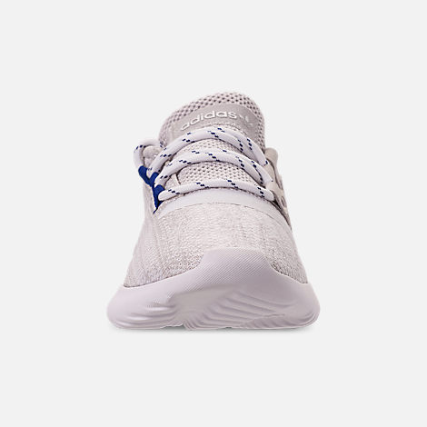 Front view of Boys' Little Kids' adidas Tubular Dusk Casual Shoes in Grey One/Footwear White/Mystery Ink