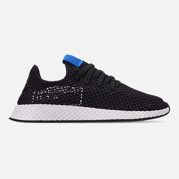Right view of Men's adidas Originals Deerupt Runner Casual Shoes in Core Black/Core Black/Bluebird
