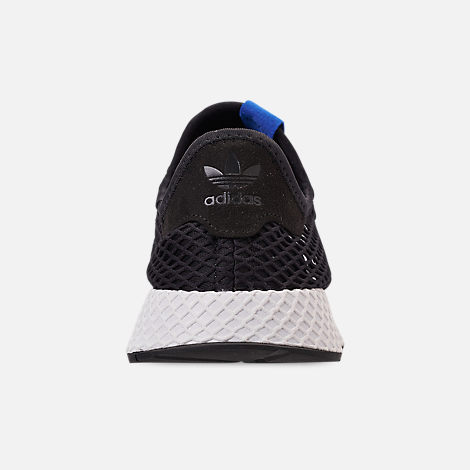Back view of Men's adidas Originals Deerupt Runner Casual Shoes in Core Black/Core Black/Bluebird