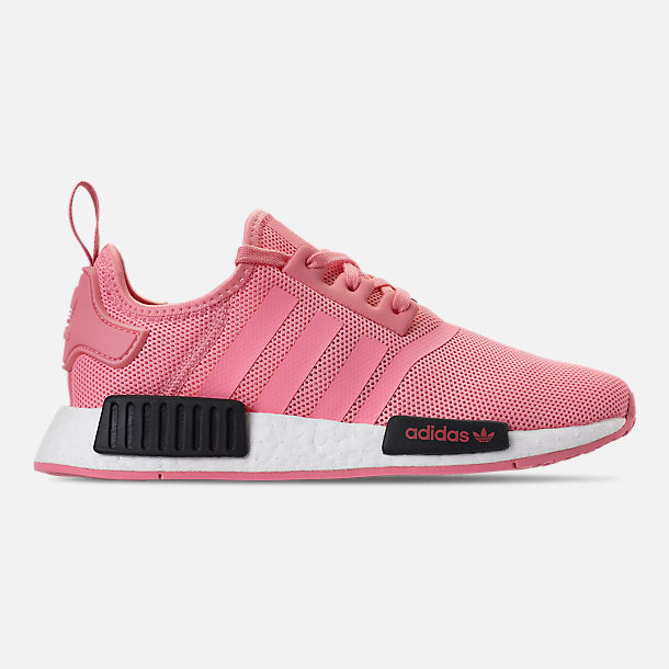 Right view of Girls' Grade School adidas NMD Runner Casual Shoes in Real Magenta/Core Black/Core Blue