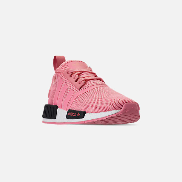 Three Quarter view of Girls' Big Kids' adidas NMD Runner Casual Shoes in Real Magenta/Core Black/Core Blue