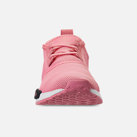 Front view of Girls' Grade School adidas NMD Runner Casual Shoes in Real Magenta/Core Black/Core Blue