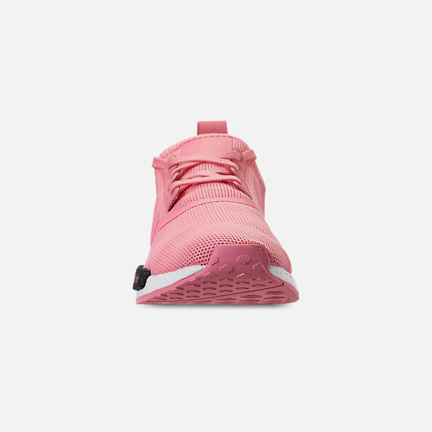 Front view of Girls' Big Kids' adidas NMD Runner Casual Shoes in Real Magenta/Core Black/Core Blue