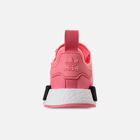 Back view of Girls' Grade School adidas NMD Runner Casual Shoes in Real Magenta/Core Black/Core Blue