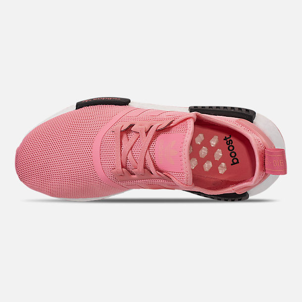 Top view of Girls' Big Kids' adidas NMD Runner Casual Shoes in Real Magenta/Core Black/Core Blue