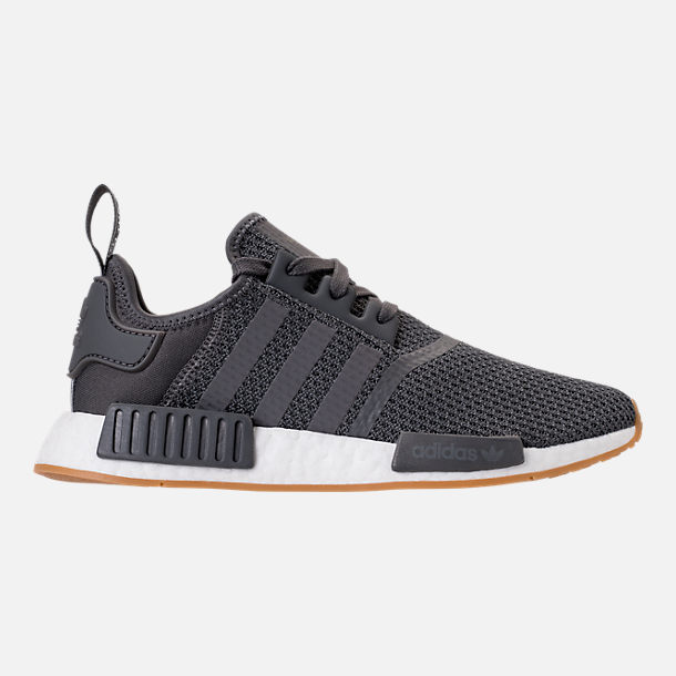 Right view of Men's adidas NMD Runner R1 Casual Shoes in Grey/Core Black