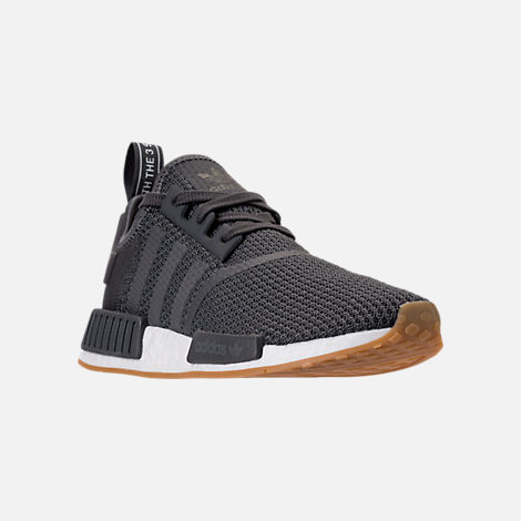 Three Quarter view of Men's adidas NMD Runner R1 Casual Shoes in Grey/Core Black