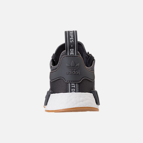 Back view of Men's adidas NMD Runner R1 Casual Shoes in Grey/Core Black