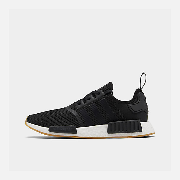 Right view of Men's adidas NMD Runner R1 Casual Shoes in Core Black/Gum