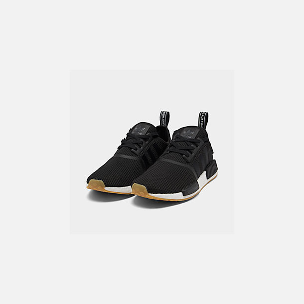Three Quarter view of Men's adidas NMD Runner R1 Casual Shoes in Core Black/Gum