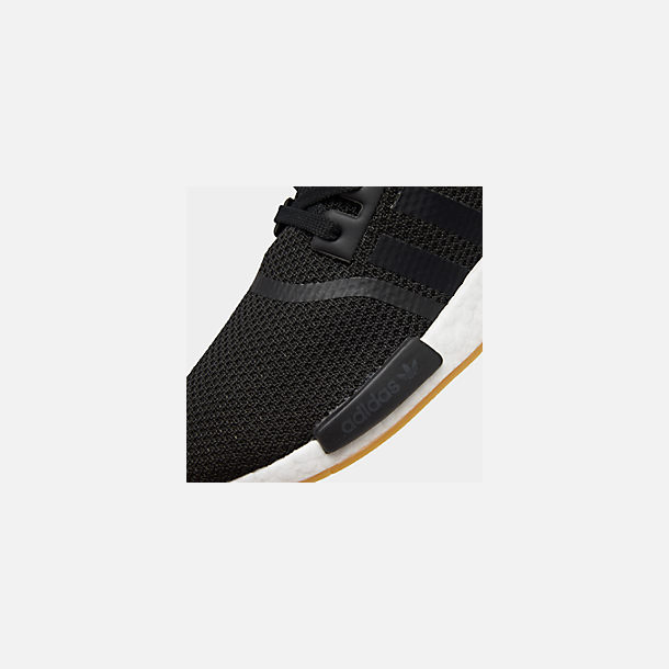 Front view of Men's adidas NMD Runner R1 Casual Shoes in Core Black/Gum