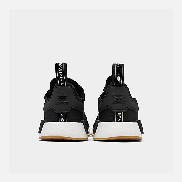 Left view of Men's adidas NMD Runner R1 Casual Shoes in Core Black/Gum